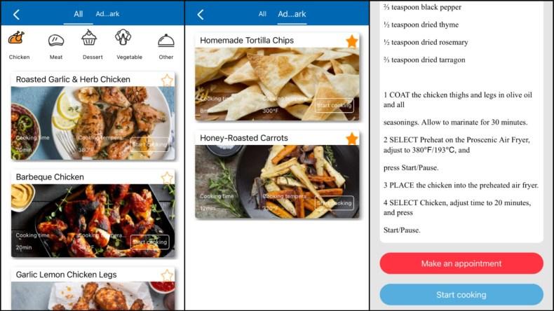 Proscenic T21 Smart Air Fryer App