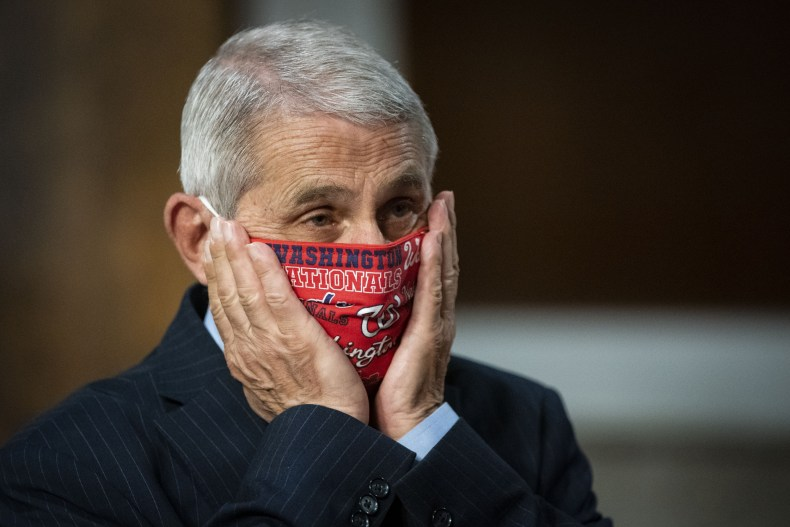 Anthony Fauci Rand Paul masks Michigan Jersey