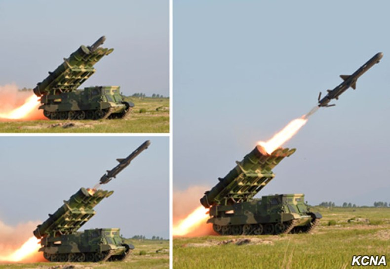 korean, peoples, army, cruise, missile, test