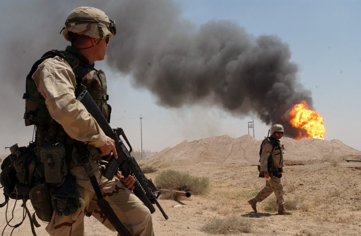 iraq, war, oil, wells, fire