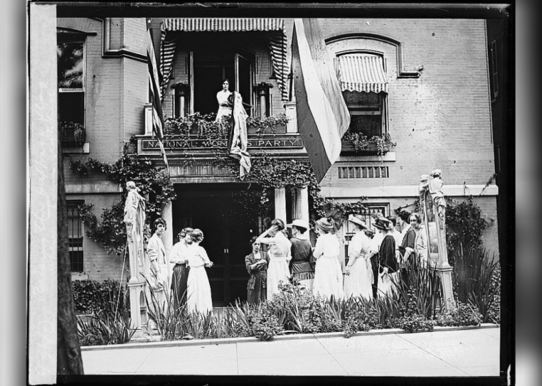 Raising the flag of suffrage