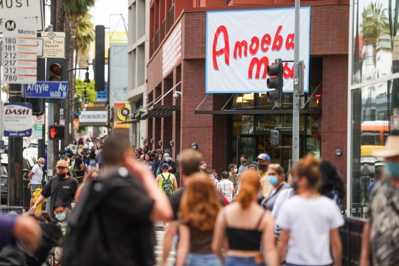LA music store April 2021