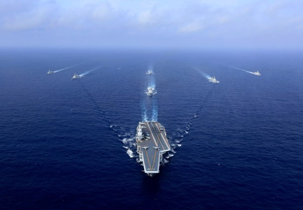 Chinese aircraft carrier in drills near Taiwan