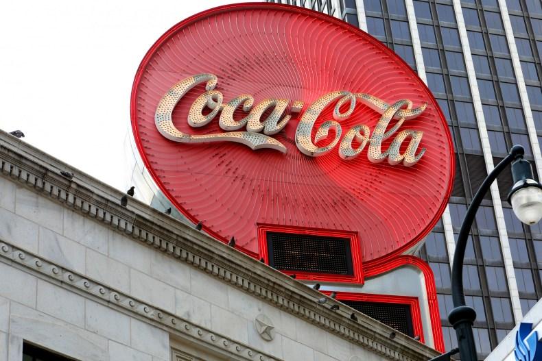 Coca-Cola sign in Atlanta, Georgia