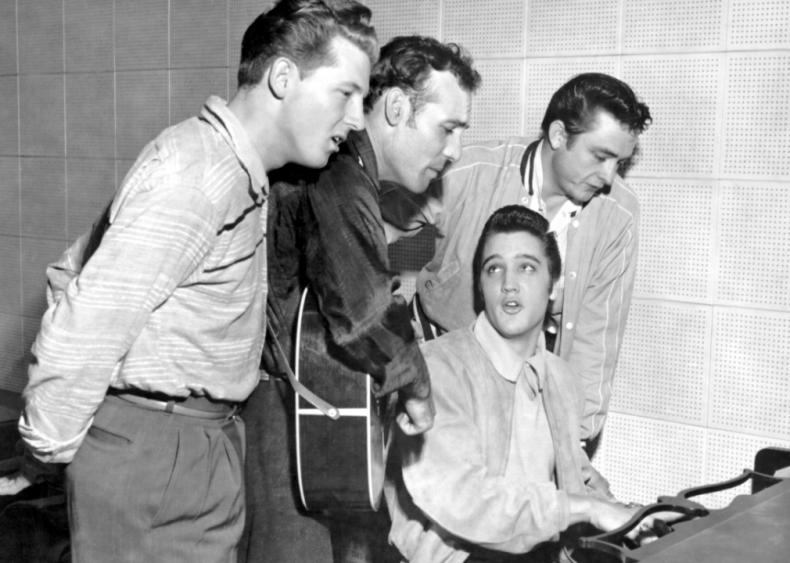 1955: Johnny Cash and Elvis Presley tour together