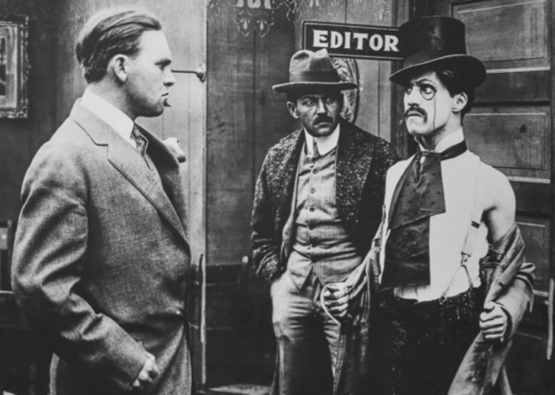 1914: Making a movie debut