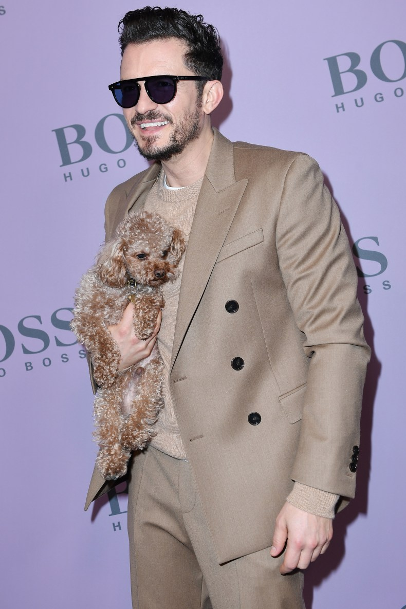Orlando Bloom and his dog Mighty