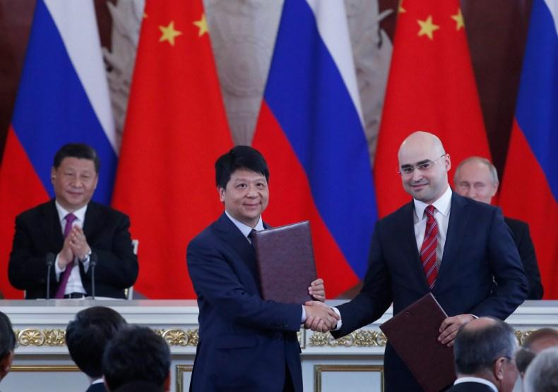 xi, putin, china, russia, huawei, mts