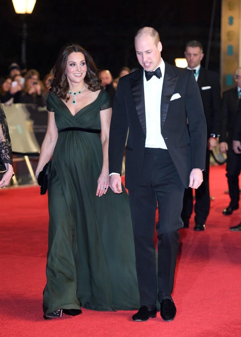 Kate Middleton, Prince William Attend Bafta Awards