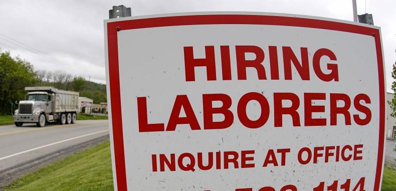 Hiring Laborers Sign