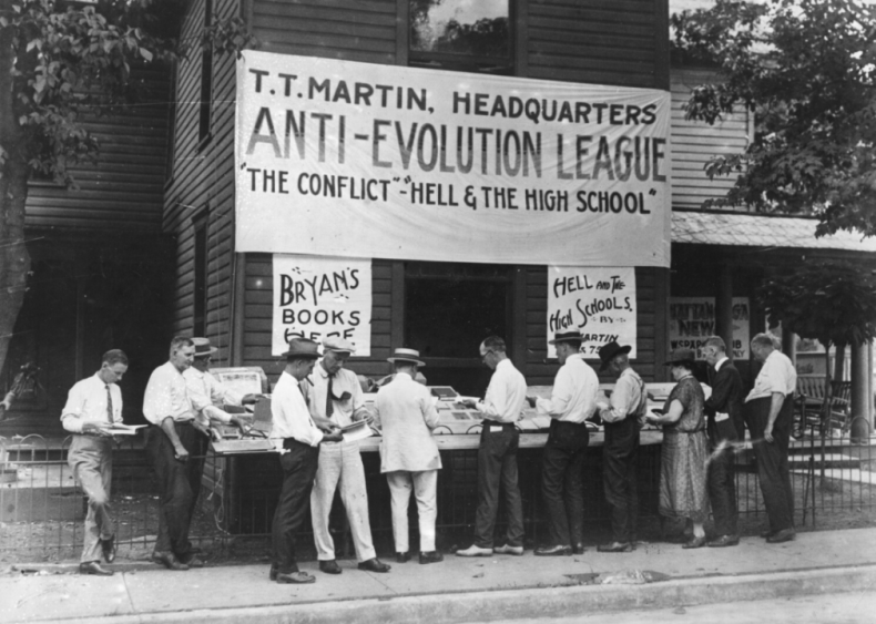 Science, religion face off in Scopes Monkey Trial