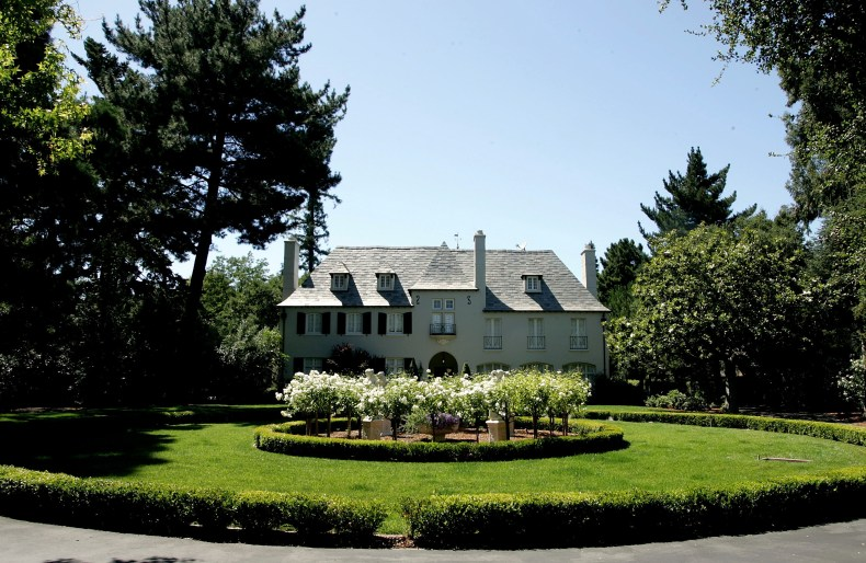 A mansion style home in Atherton, California