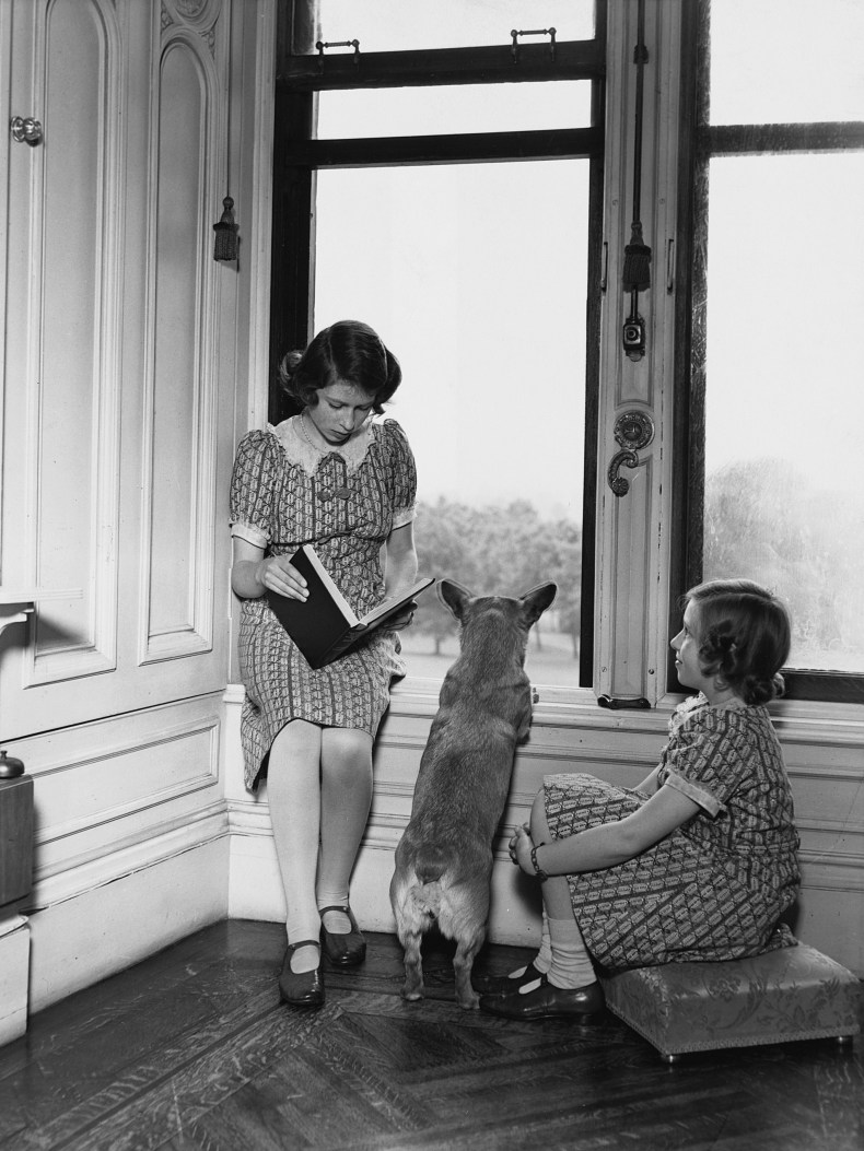 Queen Elizabeth II and Corgi During WW2