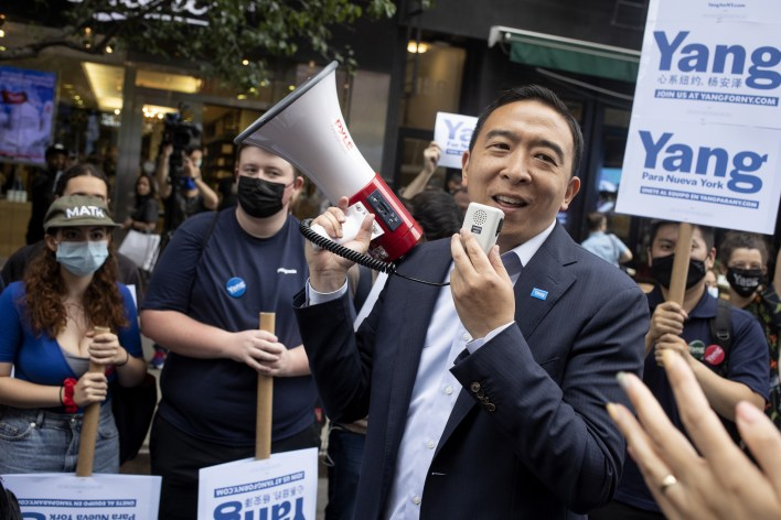 Yang New York mayor debate naive voting