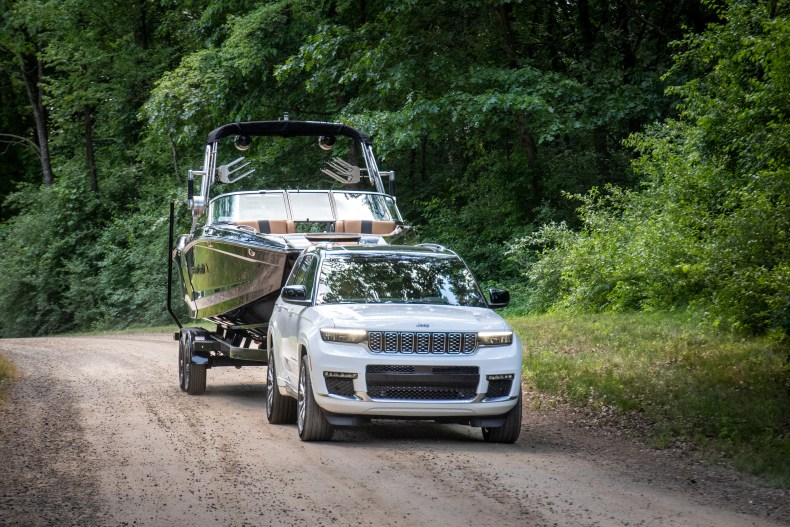 2021 Jeep Grand Cherokee L towing boat