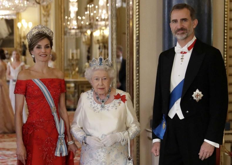Queen Elizabeth With Felipe and Letizia