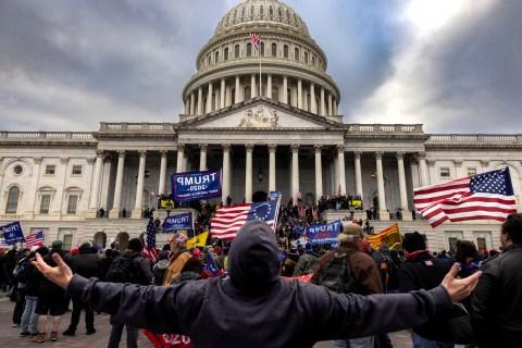 Capitol Riot outside shot