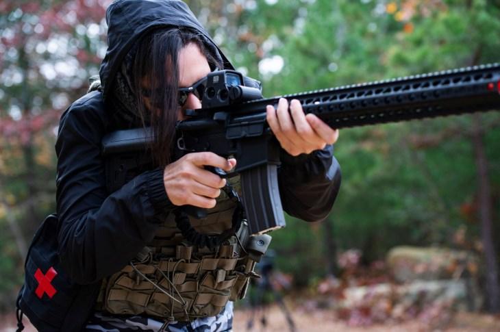Militia members return fire during an ambush
