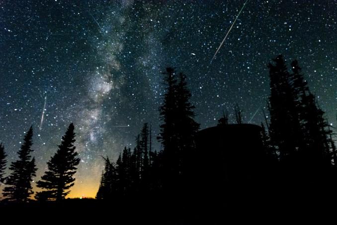 The Perseid meteor shower above Utah