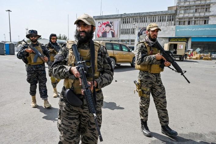 Taliban Members at Kabul Airport