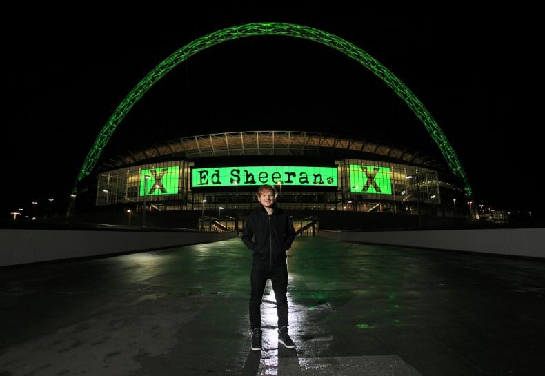 Ed Sheeran at Wembley Stadium