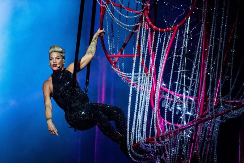Pink performs at Paris La Defense Arena
