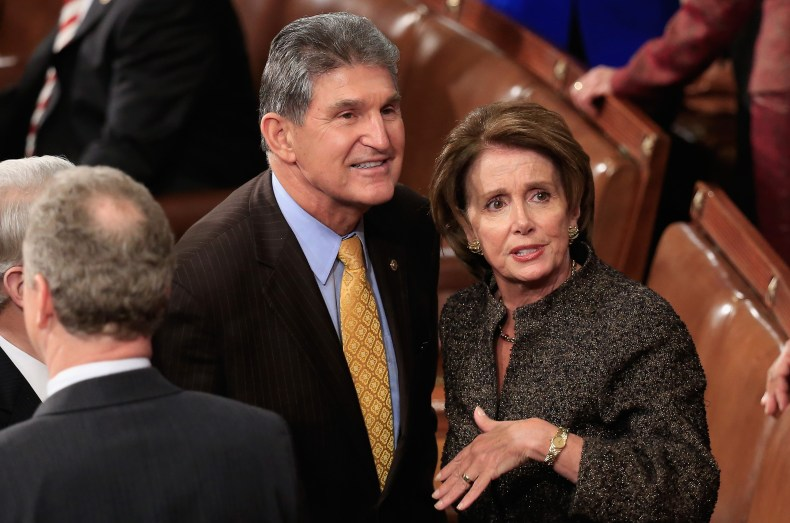 Nancy Pelosi Joe Manchin infrastructure bill