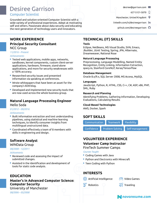 Computer Science Resume 2020 Guide