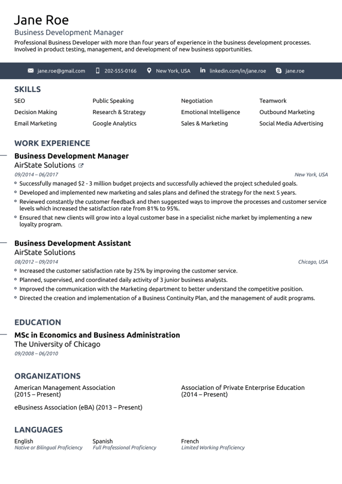 Free Resume Templates For 2020