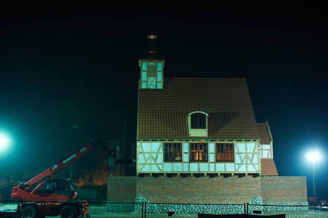 Budowa kościoła w Skarszewach w 24 godziny [ZDJĘCIA] Zbudowali kościół w dobę!