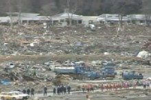 Japan Tsunami Engulfs Fishing Village