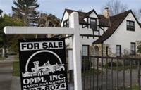 AP - In this Jan. 5, 2010 photo, a home is seen advertised for sale in Alameda, Calif. Sales of ...