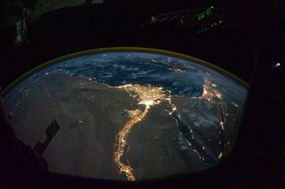 This image, taken from the International Space ...