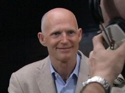Gov. Scott Coached During TV Interviews