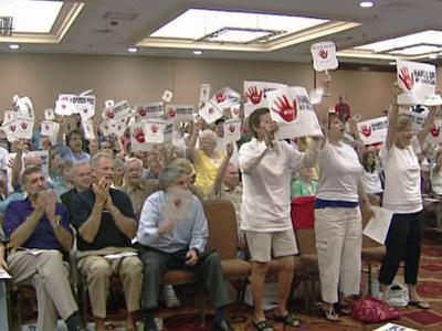 Rally held against government-run health care
