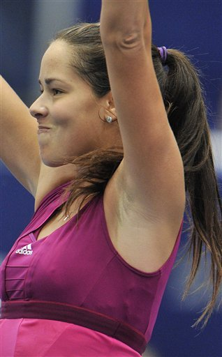 Serbia's Ana Ivanovic  Reacts