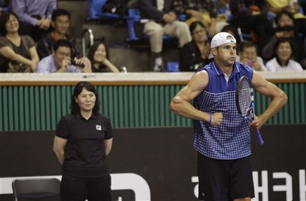 Andy Roddick Of The United States Gestures