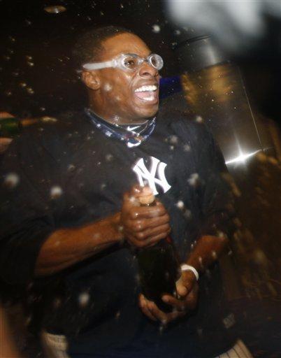 New  York Yankees Curtis Granderson Celebrates