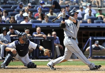 Seattle Mariners' Mike Carp Hits