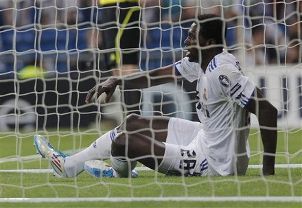 Real Madrid's Emmanuel Adebayor From Togo Reacts