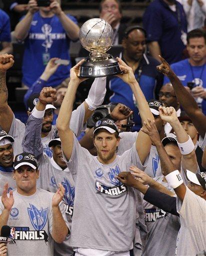 Dallas Mavericks Forward Dirk Nowitzki Holds