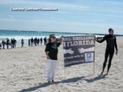 Protesters To Form Human Chain On Beach