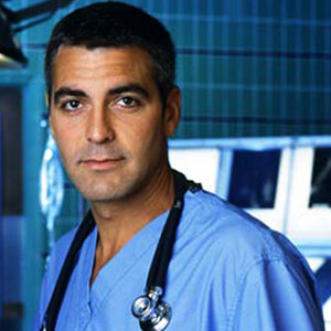 George Clooney Scrubbing Into ER