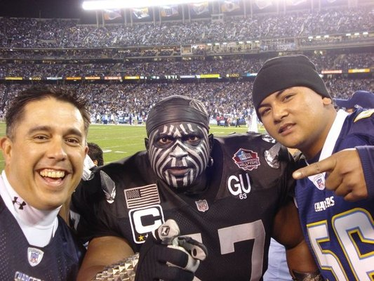 Raiders Chargers fans