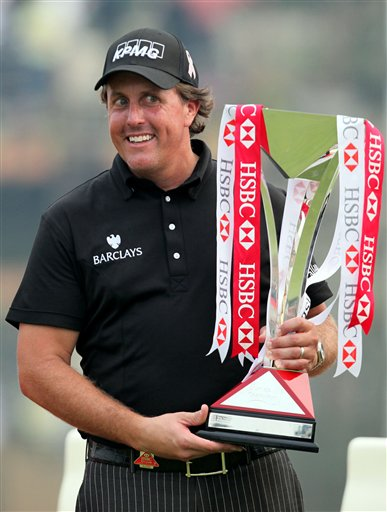 Phil Mickelson HSBC Championship Trophy China