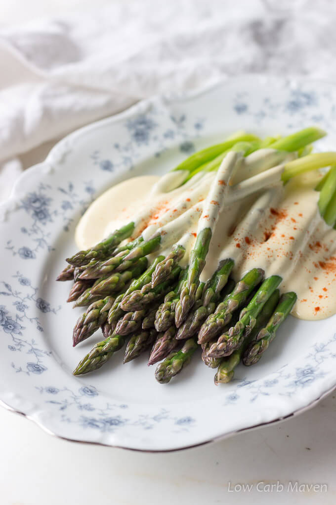 Asparagus With Bacon Butter Hollandaise