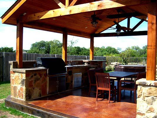 outdoor kitchen covered patio Awnings | Archadeck Outdoor Living