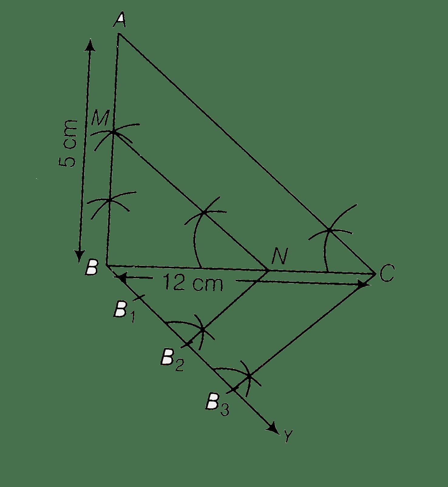 which bc 12 cm ab 5 cm