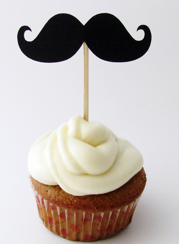 Mustache Cupcake Toppers On Storenvy
