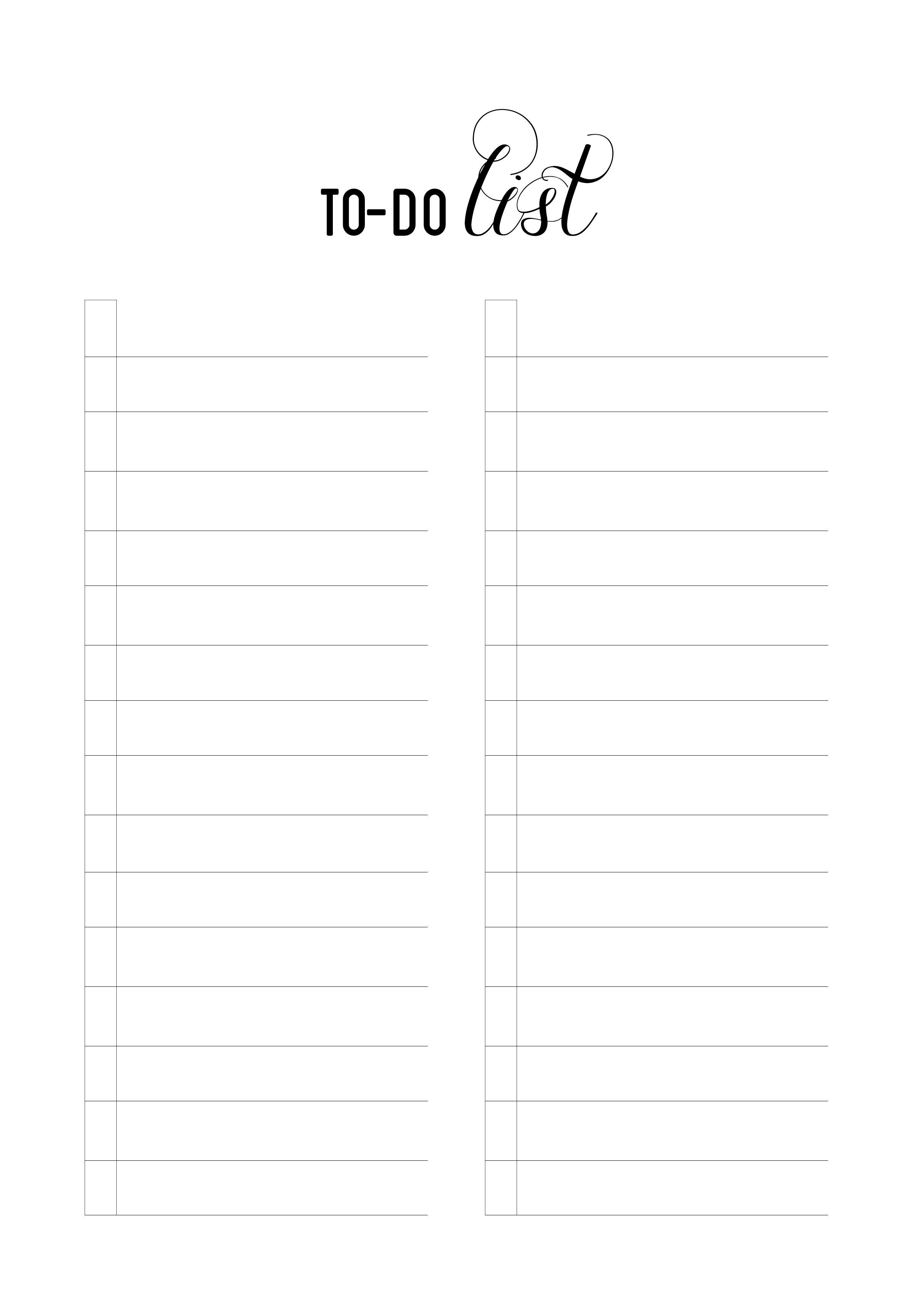 To Do List Printable On Storenvy